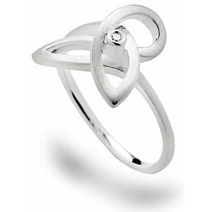 Bastian 12531 Inverun Silber Ring mattiert Diamant