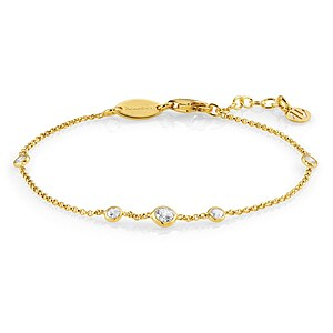 Nomination Bella Brilliant Edition Armkette 142681 007 in Silber gelbgolden plattiert - 66449