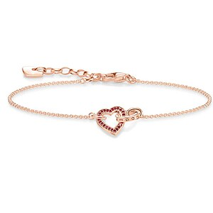 Thomas Sabo A1648-540-10  GLAM & SOUL Silver rosé Armband TOGETHER Herz 19 cm - 66580