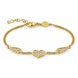 Nomination 145382 012 ANGEL LOVE EDITION  Armband Silber goldfarben - Flügel Herz Cubic Zirkonia