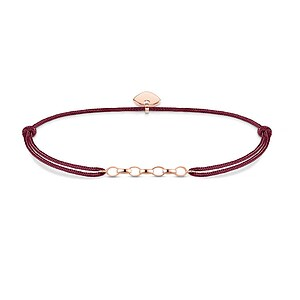 Thomas Sabo LS052-597-10 Carrier Charm-Armband Little Secret Herz roségoldfarben Nylon rot 14 - 20 cm