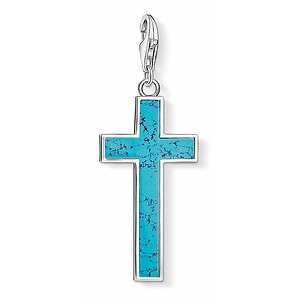 Thomas Sabo CC Y0021-404-17 Anhänger Cross CHARM CLUB Türkises Kreuz - 66789