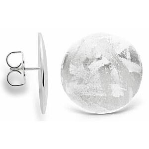 Bastian 12710 Inverun Silber Ohrstecker mattiert/gebürstet - 2,5 cm