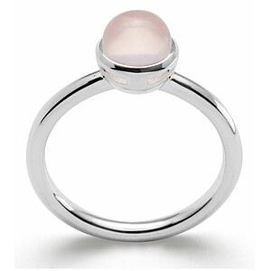 Bastian 12741 Inverun Silber Ring poliert Rosenquarz - 54