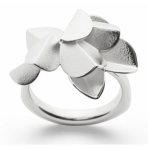 Bastian 12763 Inverun Silber Fairytale Leaf Ring matt - 54