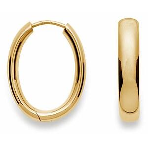Bastian 12061 Inverun Silber  Creolen golden poliert