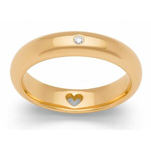 Bastian 12719 Inverun Silber golden Diamant Ring - 54