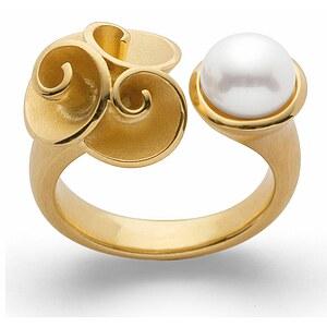 Bastian 12780 Inverun Silber golden Ring Perle weiß - 54
