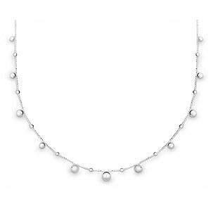 Quinn 0272459 Silber Halskette poliert Kugel