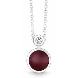 Quinn 027191963 Silber Halskette Sweet_End Brillant Granat