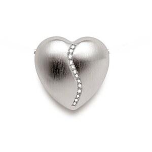Bastian 17.0053.1001 Heart Inverun Silber Anhänger Herz Diamanten