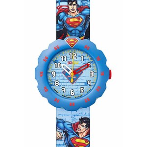 Flik Flak Uhren FLSP004 Kinderuhr Pre-School Scuba Boy (5+) Superman's Back in Town - 70225