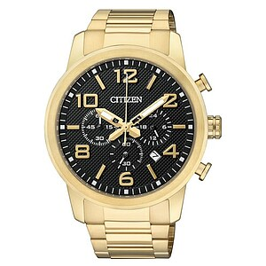 Citizen Uhren AN8052-55E Herren-Chronograph Basic gold plattiert - 70234