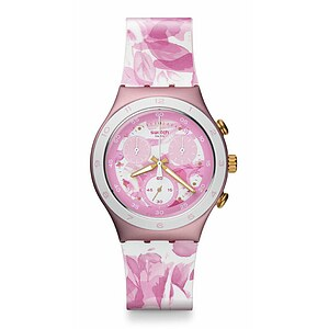 Swatch Uhr YCP1001 LE SWATCH DREAM URBAN Irony Chrono Rose Jungle