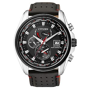 Citizen Uhren AT9036-08E Eco-Drive Radio Controlled Funk Elegant Lederband schwarz - 70431