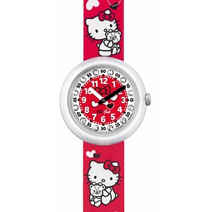 Flik Flak Uhren ZFLNP014 Girl Kinderuhr Pre-School (5+) Hello Kitty 40th Anniversary Treasure - 70664