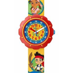 Flik Flak Uhren FLSP006 Kinderuhr Pre-School Scuba Boy (5+) Disney Jake and the Never Land Pirates - 70665