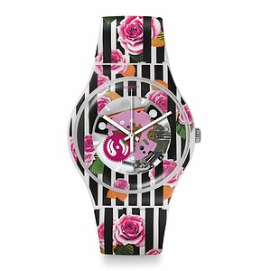 Swatch Uhr SUOW110 HIGH-LANDS MIX New Gent Rose Explosion