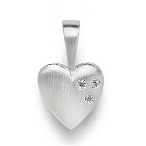 Bastian 11366 Inverun Pendant Silber Herz-Anhänger Diamanten