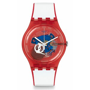 Swatch Uhr SUOR102 RED WHITE & BLUE New Gent Clownfish Red - 70926
