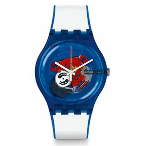 Swatch Uhr SUON112 RED WHITE & BLUE New Gent Clownfish Blue - 70927