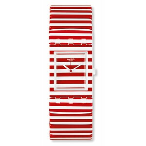 Swatch Uhr SUBW111 B RED WHITE & BLUE Square Sailing Lady - 70932