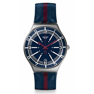 Swatch Uhr YGS467 RED WHITE & BLUE Irony Big Floating Line - 70937