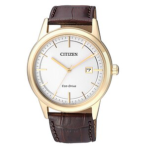 Citizen Uhren AW1233-01A Eco-Drive Herren Sports vergoldet Lederband - 71002