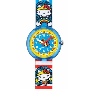 Flik Flak Uhren FLNP017 Girl Kinderuhr Pre-School (5+) DC Hello Kitty Supergirl - 71028