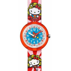 Flik Flak Uhren FLNP018 Girl Kinderuhr Pre-School (5+) DC Hello Kitty Wonder Woman - 71029
