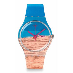 Swatch Uhr SUOK706 SURFING THE WAVE  New Gent Blue Pine