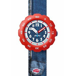 Flik Flak Uhren FPSP006 FUNNY HOURS Kinderuhr Power Time Boys (5+) Jeans for Him - 71093