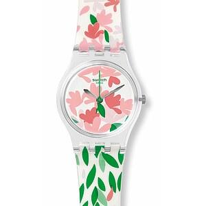 Swatch Uhr LK355 FLORALIA Original Lady Jackaranda