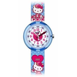 Flik Flak Uhren-Serie FLNP024 Friends & Heroes Kinderuhr Girls Hello Kitty Cute Mail
