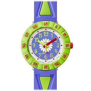 Flik Flak Uhren-Serie FCSP035 FUNNY HOURS Kinderuhr Power Time Girls (7+) Purple Flower