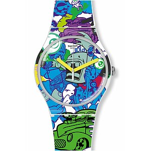 Swatch Uhr SUOW133 VOICE OF FREEDOM New Gent Wall Paint - 71856