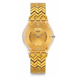 Swatch Uhr SFE106G  LOOK FAB Skin Golden Street - 71926