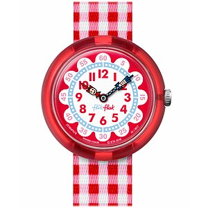 Flik Flak Uhren-Serie FBNP078 SUNNY HOURS - A TRIP TO LONDON Kinderuhr Story Time Girls (3+) Gingham - 71959