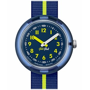 Flik Flak Uhren-Serie FPNP023 SUNNY HOURS - COLOR BLOCK Kinderuhr Friends & Heroes Boys (5+) Yellow Band - 71972