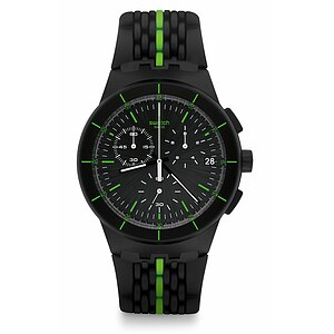 Swatch Uhr SUSB409 A TRAVELER'S DREAM Chrono Plastic Laser Track - 71997