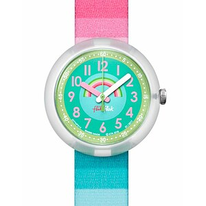 Flik Flak Uhren-Serie FPNP014 SUNNY HOURS - BIRTHDAY PARTY Kinderuhr Power Time Girls (5+) Stripy Dreams - 72073