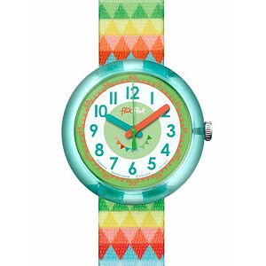 Flik Flak Uhren-Serie FPNP015 SUNNY HOURS - BIRTHDAY PARTY Kinderuhr Power Time Girls (5+) Sweet Flags - 72074