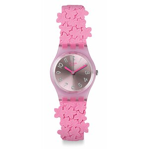 Swatch Uhr LP146 ACTION HEROES    Original Lady Pink Loop - 72111