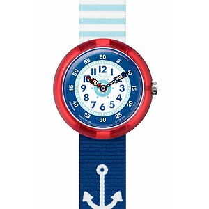 Flik Flak Uhren-Serie FBNP090 A DAY AT THE BEACH Kinderuhr Story Time Boys (3+) Matrose - 72134
