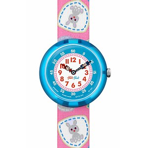 Flik Flak Uhren-Serie FBNP091 GREAT CAMPING Kinderuhr Story Time Girls (3+) Camping Badge Pink - 72214