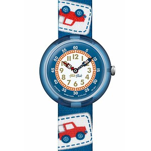 Flik Flak Uhren-Serie FBNP094 GREAT CAMPING Kinderuhr Story Time Boys (3+) Camping Badge Blue - 72216