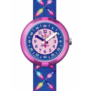 Flik Flak Uhren-Serie FPNP016 GREAT CAMPING Kinderuhr Power Time Girls (5+) Cool Feather - 72218