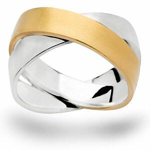 Bastian 12455 Inverun Silber Ring teilvergoldet