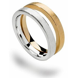 Bastian 12548 Inverun Silber Ring kratzmatt teilvergoldet