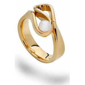 Bastian 12601 Inverun Silber vergoldet Ring Zuchtperle weiß